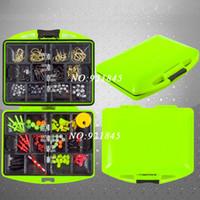 fishing hook snap swivel - Assorted Fishing Fish Tackles Swivels Kits Fishing accessories box Lures Snap Jigs Beads Hooks Box g