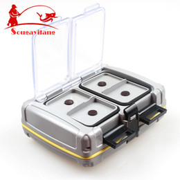 Wholesale-Top Quyality 139g 10*8.5*3.5cm ABS Plastic Fishing Tackle box Fishing Bait Box Waterproof Flies Box Fishing Tool Fishing Tackle