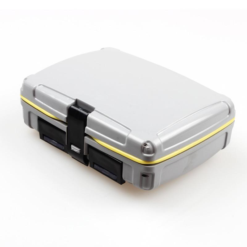 Wholesale-Top Quyality 139g 10*8.5*3.5cm ABS Plastic Fishing Tackle box Fishing Bait Box Waterproof Flies Box Fishing Tool Fishing Tackle
