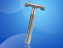 Wholesale Shaver double edge safety shaving razor cooper alloy holder rotate tang chromium plating H New