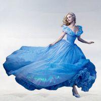 Wholesale 2015 new Cinderella dress Elsa Anna costume princess dress sequined cartoon costume frozen girls dresses