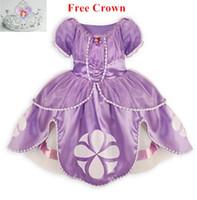 Wholesale Princess sofia dress costume disfraz princesa sofia vestido princesa sofia princesinha sofia the first vestido infantil meninas