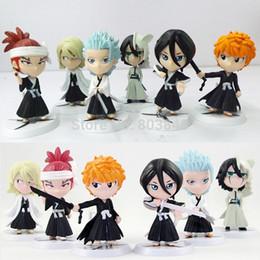 Wholesale Good PVC Ichigo Kurosaki Bleach Action Figure Keychain Collectibles Kuchiki Rukia Ulchi Anime Model Toy Gift
