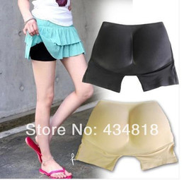 New 2015 Hot Fashion Women 4 Size One Piece Butt-lifting Fake Butt Slimming Underwear Seamless Breathable Shapers Pad Panties