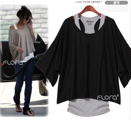 Wholesale T shirt batwing sleeve short sleeve comfortalbe summer choice new arrival lee hoyori