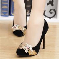 Cheap Drop shipping low heel shoes women pumps cheap high heels female shoes autumn high heeled shoes