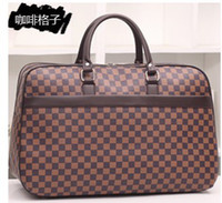 leather weekend bags - 2015 new arrival Classic designer high quality portable men travel duffel bag women carry on luggage weekend overnight bags