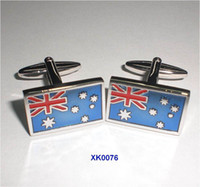 australian flag cufflinks - Australian flag shape cufflinks men s Funny Cuff links XK0076