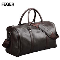 Wholesale 2015 fashion luxury genuine leather classic brown cowhide handbag bags luggage men travel bags