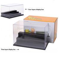 acrylic display box - Four Steps Clear UV Acrylic Plastic Display Box Case Plastic Box Dustproof Protection Showcase Case Dollhouse Action Figure Toy