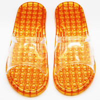 Wholesale Transparent crystal massage hot summer slip bathroom slippers massage slippers sandals and slippers beads