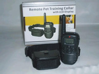 Wholesale Free Ship Set Vibrate Remote Dog Training Collar with LED Display Dog Training Collar In Original Box
