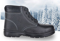 steel toe cap - prevent slippery work shoes thick leather snow boots puncture proof anti hit safety shoes steel toe cap