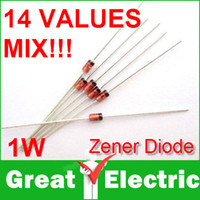 assorted electronic components lot - 140PC W Zener diode valuesX10pcs Electronic Components Package Zener Diode Assorted Kit CGKCH028
