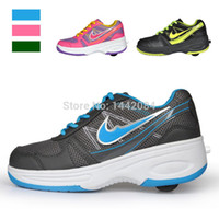 roller skate shoes - Hot children heelys roller shoes kids sneakers with wheels heelys girls boys Adult automatic skating shoes Flying Shoes