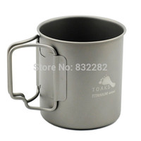 Wholesale Toaks Titanium Ti Lightweight Water Cup Mug Outdoor Camping Hiking Cup Picnic Cookware Lockable Grip ml CUP