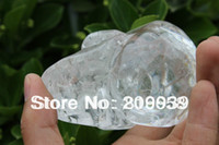quartz crystal skull - Tibetan clear Quartz Rock Crystal Skull Carving rainbows