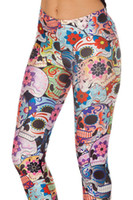 adventure clothing brands - New Women Legging Black Milk Brand Adventure Time Day of the Dead Girl Legging Pants Fitness Clothing For Women
