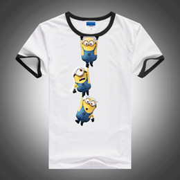 Wholesale Peppa Sale In Stock New Cartoon Anime Figure Despicable Me Minions Clothes Minion Costume Children T Shirts Children s Wear