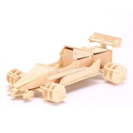 Wholesale 3D Wooden Puzzle Jigsaw Formula Car Model Toy Automobile Race DIY Kit for Children and Adults Wooden Toys