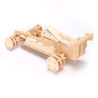 automobile model kits - 3D Wooden Puzzle Jigsaw Formula Car Model Toy Automobile Race DIY Kit for Children and Adults Wooden Toys