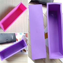 Wholesale-Fashion New Perfect Soap Brick Pastry Bread Loaf Cake Silicone Rectangle Bakeware 1.2L Free shipping