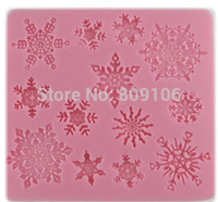 baking pottery - retal snowflake shape clay pottery mould handmade soap silicone cake mold baking molds9 cm
