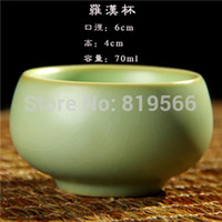 bamboo ware - 2pcs Ru Porcelain Tea Cup Elegant Kung Fu Tea Set Ware Suit Christmas Gift amp Collection amp Tea Lovers Personal Use