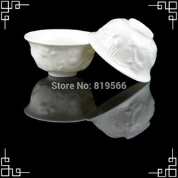 Wholesale Dragon Caving Porcelain Tea Cups Ceramic Kung Fu Tea Set Service Drinkware