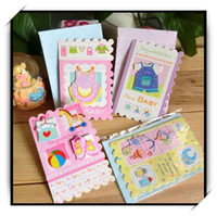 baby card messages - 16pcs Creative D Cartoon Greeting Cards With Envelopes For Baby Kid s Gift Cute Design Message Card AKL