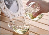 artistic glass bowls - New arrival ml high quality artistic glass tea cup tea bowl filter tea set