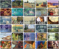 artists greeting cards - Artist series Monet oil painting drawing boxed postcards36pcs set Vintage retro Christmas Cards Multipurpose greeting cards
