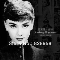 audrey box - New Retro Style Postcard Audrey Hepburn Classical Vintage Greeting Card Christmas Postcards Desktop Decoration Free Gift Box