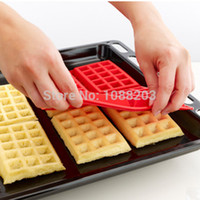 baking cake in silicone pan - SILICONE WAFFLE SHAPED BAKING MOULD BREAKFAST PAN CAKE COOKIE BAKES IN MOLD