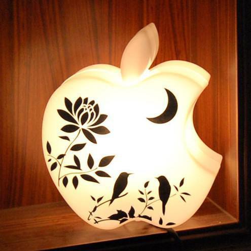 2017 Money Pot Cute Apple Lamp Led Apple Coin Bank Shaped Desk ...:See larger image,Lighting