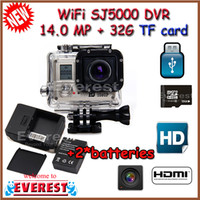 action shot digital video camera - AMKOV SJ5000 WIFI sports Action camera Full HD Digital Video DVR MP works with Go Pro accessories batteries G TFcard