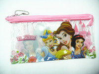 Wholesale PVC Princess Snow White Cinderella Pencil bag baby girls pen case Children stationery School Supplies