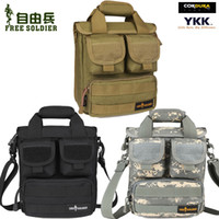 Wholesale Free soldier tactical outdoor portable mini shoulder bag leisure bag man bag PIP shoulder bag military fans