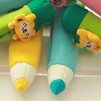 Wholesale Cartoon Plush Toys Soft School Pencil Case Bag pen Pocket Stationery Bag Pink amp Drop Shipping