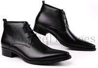 Paris Men's Black Dress Shoes Mens Patent Leather Office Shoes