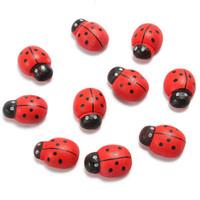 adhesive magnets - Cartoon Ladybug Shape Fridge Refrigerator Magnetic Sticker Wooden decor Magnets Adhesive