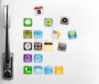 apple app magnets - 18Pieces Pack iphone Fridge Magnets APP APPLE APPS ICON Whiteboard Refrigerator Memo Magnet