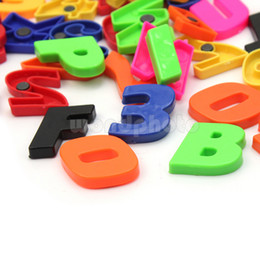 funny plastic magnetic fridge magnets letter alphabet numbers set 52 pieces plastic magnetic letters on sale