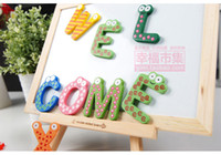 alphabet baby names - 26PCS Colorful Magnet Letter Alphabet Painted Wood Wooden Name Nursery Wall Letters BABY Children Educational Toy