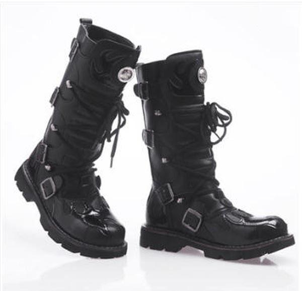 Gallery For gt Black Combat Boots Women Buckle