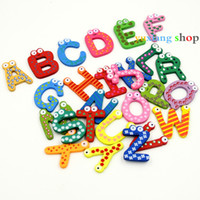 animal alphabet puzzle - HOT sell English words letters Puzzle Toy Wooden Alphabet Fridge Magnet
