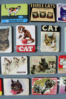 Wholesale Cat fridge magnet Animal Soft kitty Zoo Felinae Gatos refrigerator sticker gift souvenir Kids room deracoration