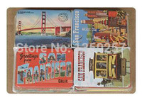 animals san francisco - home decoration San Francisco sights fridge magnets set Golden Gate Bridge designs magnetic stickers
