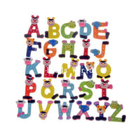 alphabet letter x - 26 Cute Kids Educational Toy Alphabet Letters quot A Z quot Learning Wood Fridge Magnet Home Decoration mm W04463 X