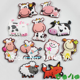 Wholesale 11PCS Kid Baby Animal Refrigerator Stickers Magnets Toddlers Early Education Learning Mini Toys Mathematics y Cow Sheep Cat